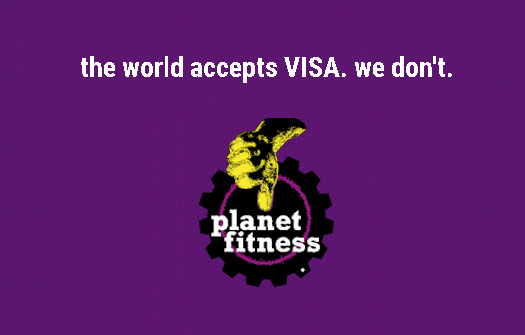 The world accepts visa.  We don't.